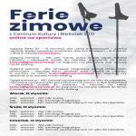 Ferie zimowe z Centrum Kultury i Bibliotek 2021 online - także na sportowo